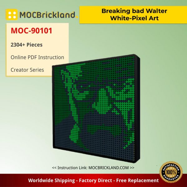 Breaking bad Walter White-Pixel Art Creator MOC-90101 With 2304 Pieces