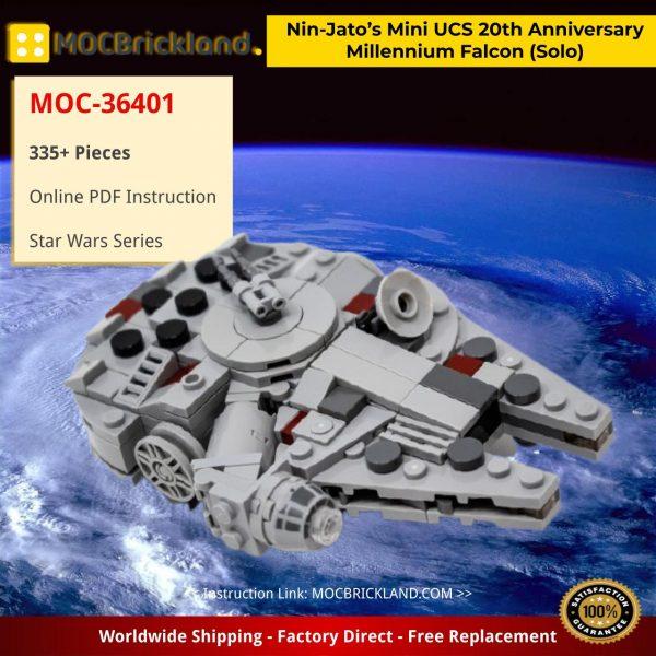 Nin-Jato's Mini UCS 20th Anniversary Millennium Falcon (Solo) Star Wars MOC-36401 by Force of Bricks with 335 Pieces