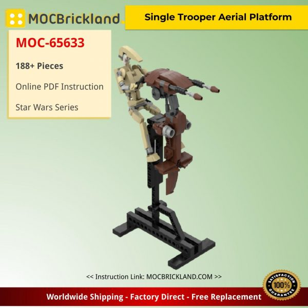 Single Trooper Aerial Platform Star Wars MOC-65633 by veryblocky with 188 Pieces