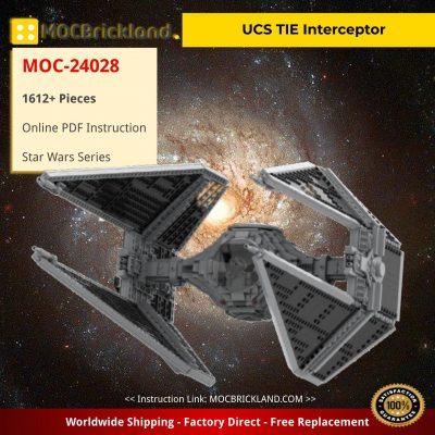UCS TIE Interceptor Star Wars MOC-24028 by wheelsspinnin with 1612 Pieces