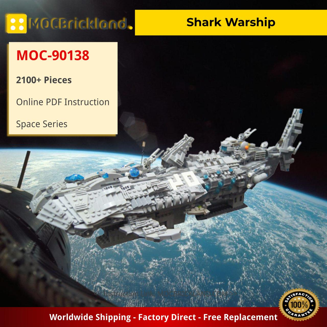 Shark Warship Space MOC-90138 with 2100 pieces