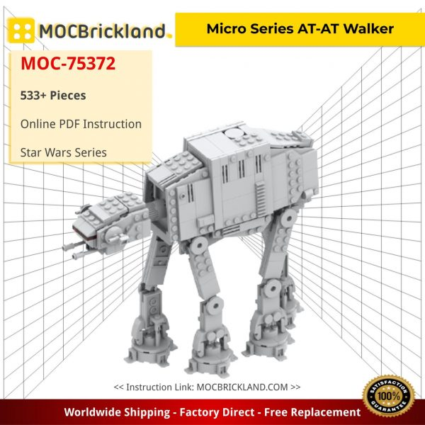 Micro Series AT-AT Walker Star Wars MOC-75372 by obiwanklemmobi with 533 pieces