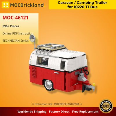 Caravan / Camping Trailer for 10220 T1 Bus TECHNIC MOC-46121 by Tobowski with 896 pieces
