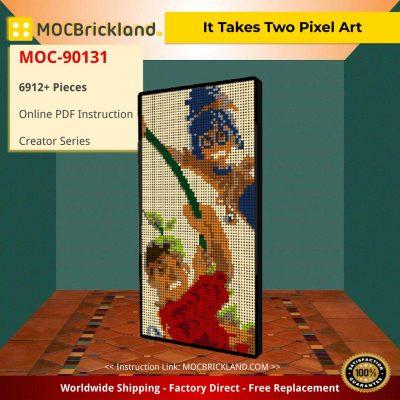 Creator MOC-90131 It Takes Two Pixel Art MOCBRICKLAND