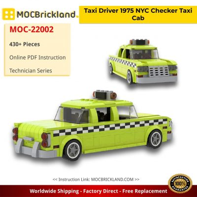 Taxi Driver 1975 NYC Checker Taxi Cab Technic MOC-22002 by mkibs with 430 pieces