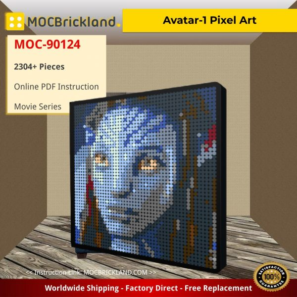 Avatar-1 Pixel Art Movie MOC-90124 with 2304 Pieces