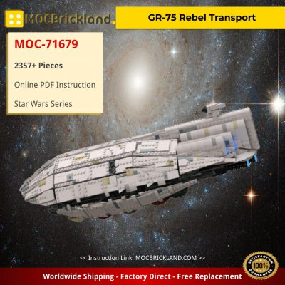 GR-75 Rebel Transport Star Wars MOC-71679 by Bruxxy with 2357 pieces