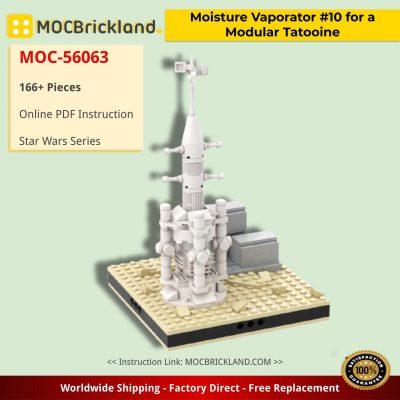 Star Wars MOC-56063 Moisture Vaporator #10 for a Modular Tatooine by gabizon MOCBRICKLAND