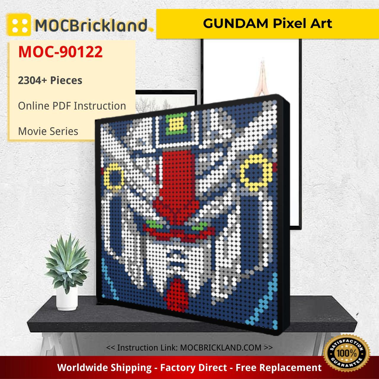 Movie MOC-90122 GUNDAM Pixel Art MOCBRICKLAND