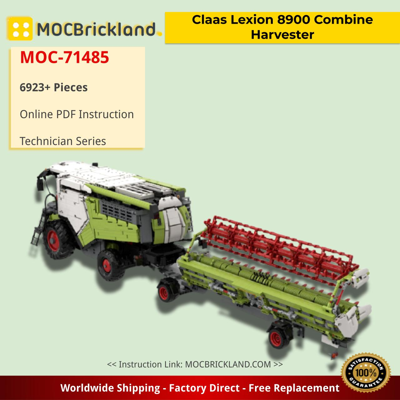 Claas Lexion 8900 Combine Harvester Technic MOC-71485 by Kneisibricks with 6923 pieces