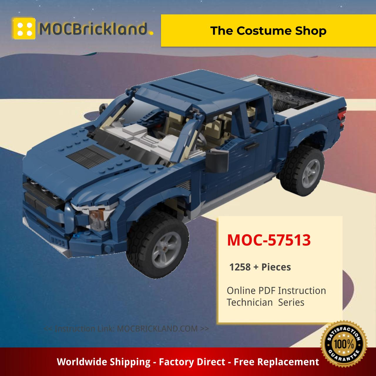 3in1 10265 Alternative Ford F150 Raptor MOC-57513 Technic by firas_legocars with 1258 Pieces