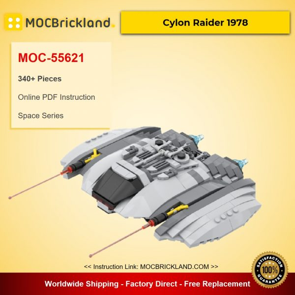 Cylon Raider 1978 MOC-55621 Space Designed By Runescope With 340 Pieces