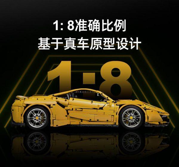 RC 1:8 Ferrari 488 Pista TECHNICIAN CADA C61057 with 3187 pieces