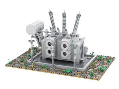 High Voltage Transformer TECHNICIAN MOC-66271 by PeppePell WITH 1880 PIECES
