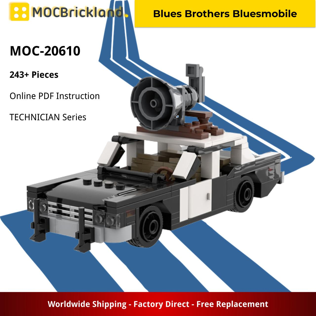 Blues Brothers Bluesmobile TECHNICIAN MOC-20610 WITH 243 PIECES