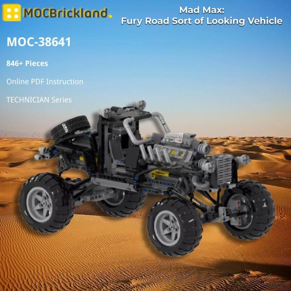 Mad Max: Fury Road Sort of Looking Vehicle by Joebot360 TECHNICIAN MOC-38641 WITH 846 PIECES