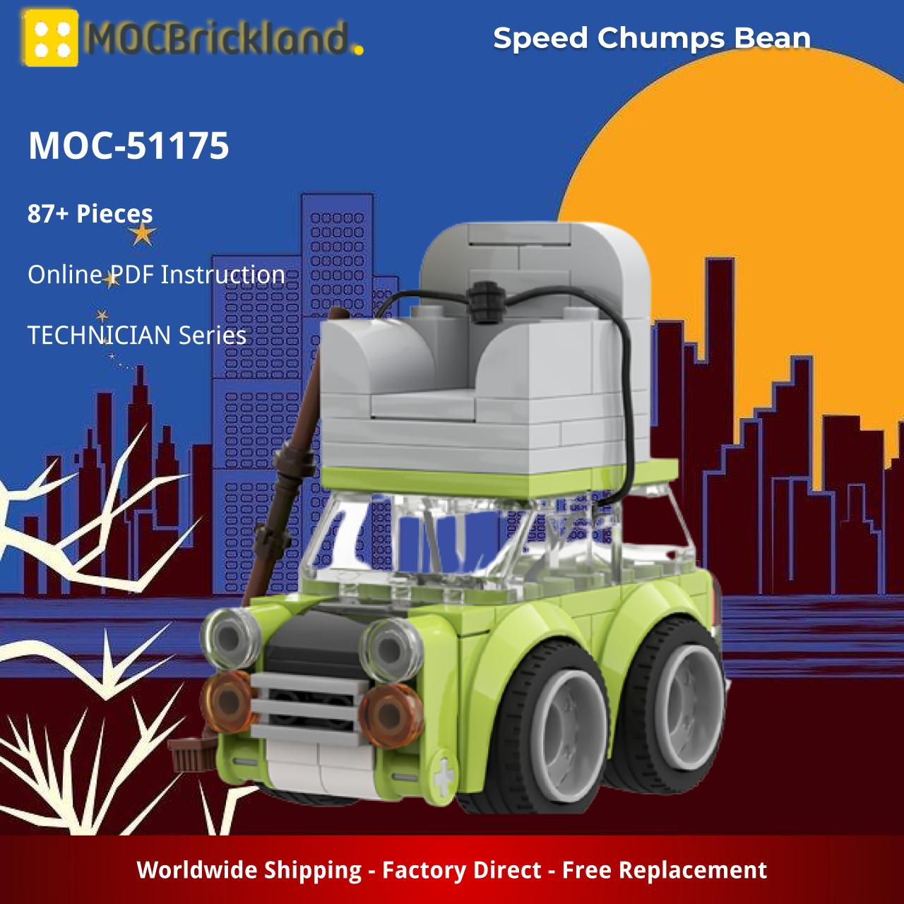 Speed Chumps Bean TECHNICIAN MOC-51175 WITH 87 PIECES
