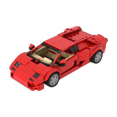Lamborghini Diablo 6.0 – Red TECHNICIAN MOC-53287 by Thegbrix MOCBRICKLANDWITH 383 PIECES