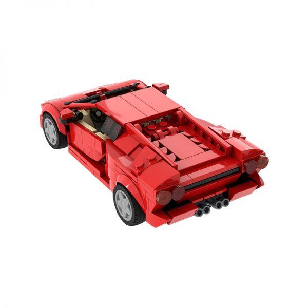 Lamborghini Diablo 6.0 – Red TECHNICIAN MOC-53287 by Thegbrix MOCBRICKLAND WITH 383 PIECES