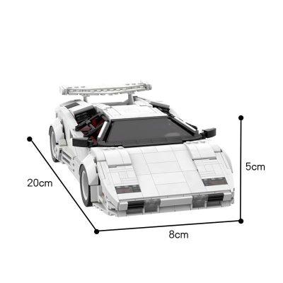 Lamborghini Countach LP5000 QV TECHNICIAN MOC 57779 WITH 1308 PIECES