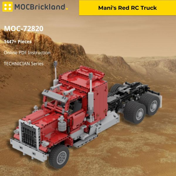 Mani's Red RC Truck TECHNICIAN MOC-72820 by Mani91 WITH 1447 PIECES
