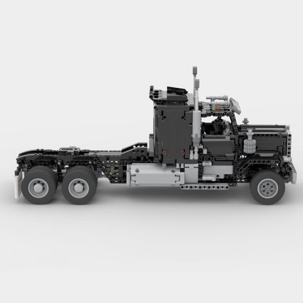 Black RC Semi Truck Hauler TECHNICIAN MOC-75363 by Mani91 WITH 1447 PIECES