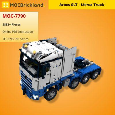 Arocs SLT – Merca Truck TECHNICIAN MOC-7790 with 2882 pieces