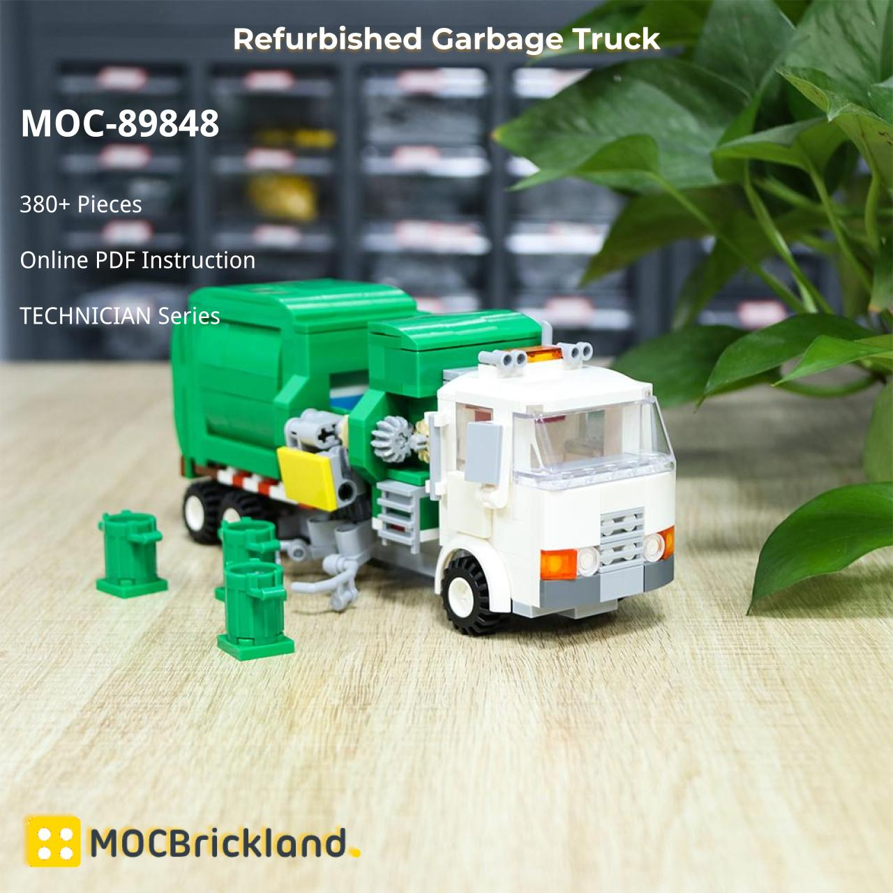 Refurbished Garbage Truck TECHNICIAN MOC-89848 WITH 380 PIECES