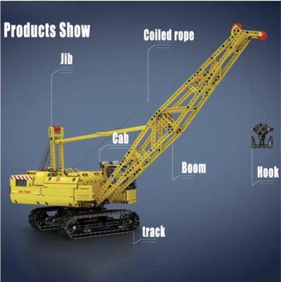 High-Tech Motorized Crawler Crane TECHNICIAN MOULD KING 17001 with 1205 pieces