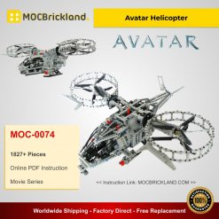 Avatar Helicopter MOC 0074 Movie Designed By Conv-barman With 1827 Pieces