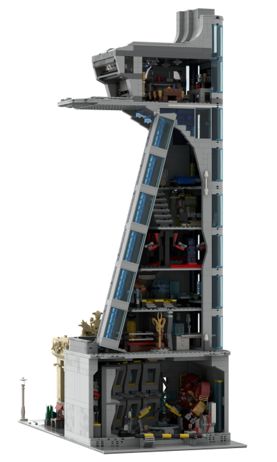 Avengers and Stark Tower Modular Building MOC 39673 Movie Designed By ZeRadman With 5457 Pieces