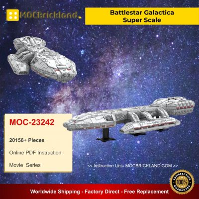 Battlestar Galactica Super Scale MOC 23242 Movie Designed By OnTheEdge With 20156 Pieces