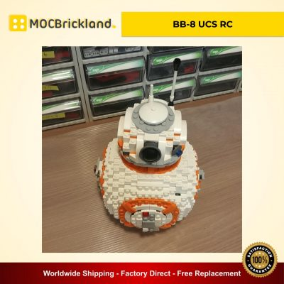 BB-8 UCS RC MOC 11416 Star Wars Compatible With LEGO 75187 Designed By Sariel With 898 Pieces