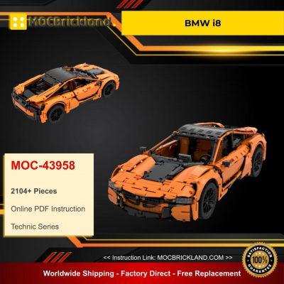 BMW i8 MOC 43958 Technic Designed By GeyserBricks With 2104 Pieces