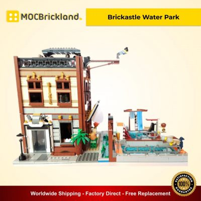Brickastle Water Park MOC 19001 Modular Building Alternative LEGO 70657 Designed By Huaojozu With 2423 Pieces