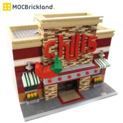 Chili's Restaurant MOC 0203 City Designed By Brickcitydepot With 2243 Pieces