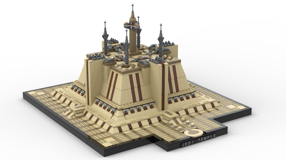 Coruscant Temple – LG Architecture Style Star Wars MOC-45652 by Jeffy-O with 2546 Pieces