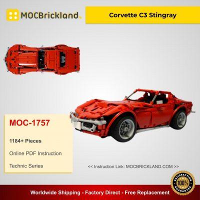 Corvette C3 Stingray MOC 1757 Technic Designed By Madoca1977 With 1184 Pieces