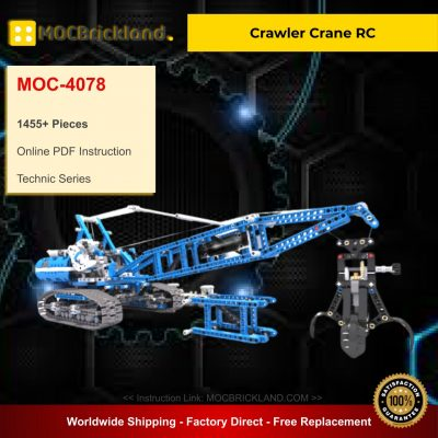 Crawler Crane RC MOC 4078 Technic Compatible With LEGO 42042-1 Designed By Catweazel