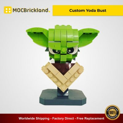 Custom Yoda Bust MOC 12874 Star Wars Designed By Buildbetterbricks With 203 Pieces