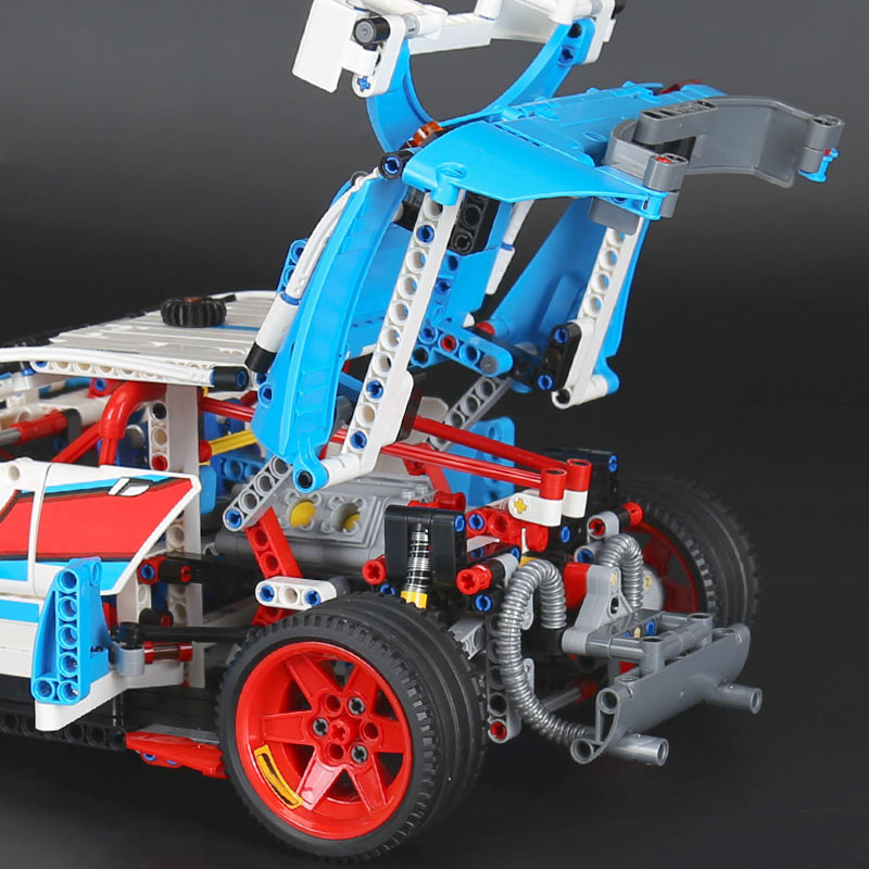 DECOOL 3377 Rally Car Compatible with 42077