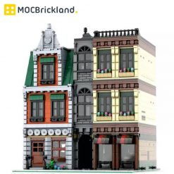 DownTown City Center MOC 37229 Modular Building Designed By PeetersKevin With 4166 Pieces