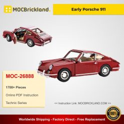 Early Porsche 911 MOC 26888 Technic Designed By Buildme With 1708 Pieces