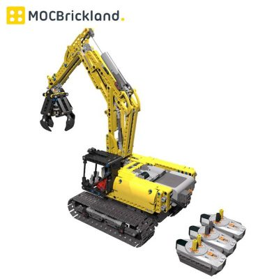 Excavator Full RC MOC 14259 Technician Compatible With LEGO 42006 Designed By jb70
