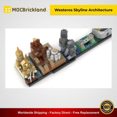Game Of Thrones - Westeros Skyline Architecture MOC 18016 Movie Designed By MOMAtteo79