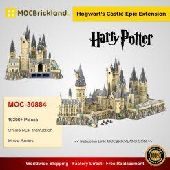Hogwart's Castle Epic Extension MOC 30884 Movie Compatible With LEGO 71043