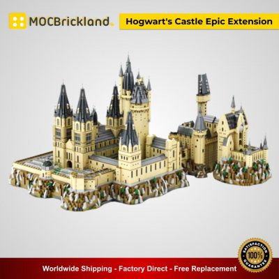 Hogwart's Castle Epic Extension MOC 30884 Movie Compatible With LEGO 71043