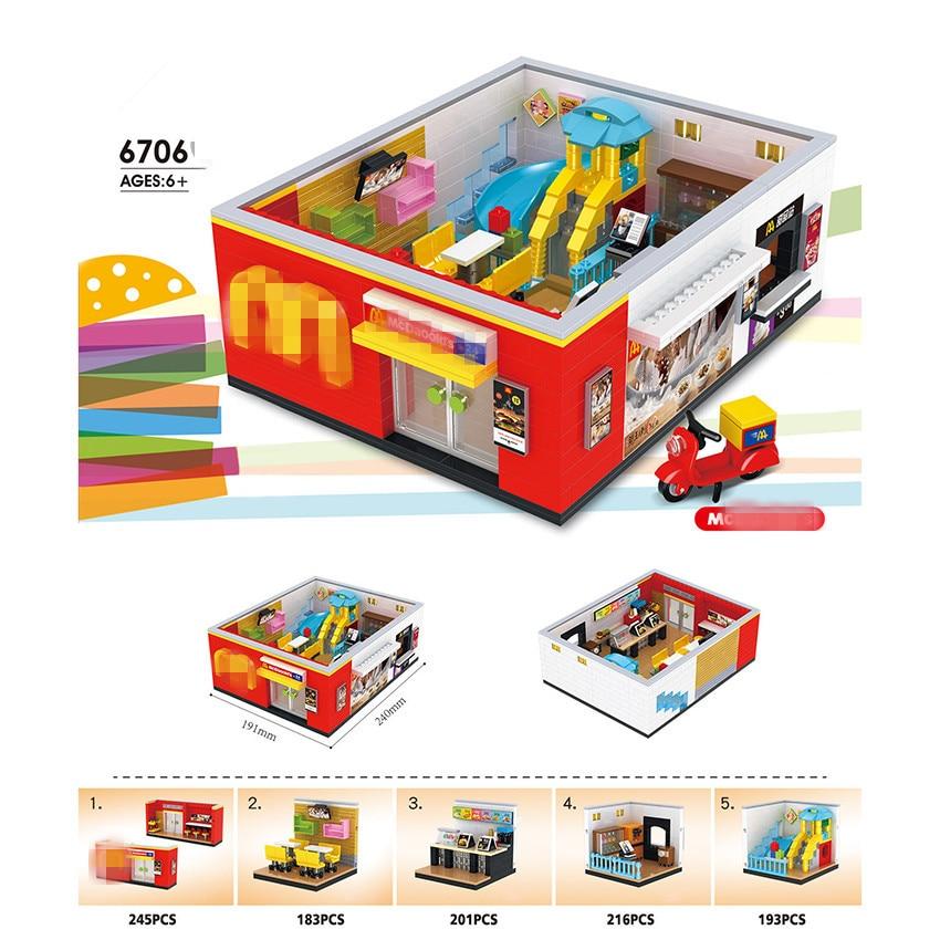 HSANHE 6706 5in1 McDonalds 24 hours Restaurant