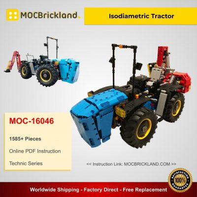 Isodiametric Tractor MOC 16046 Technic Designed By MrTekneex With 1585 Pieces