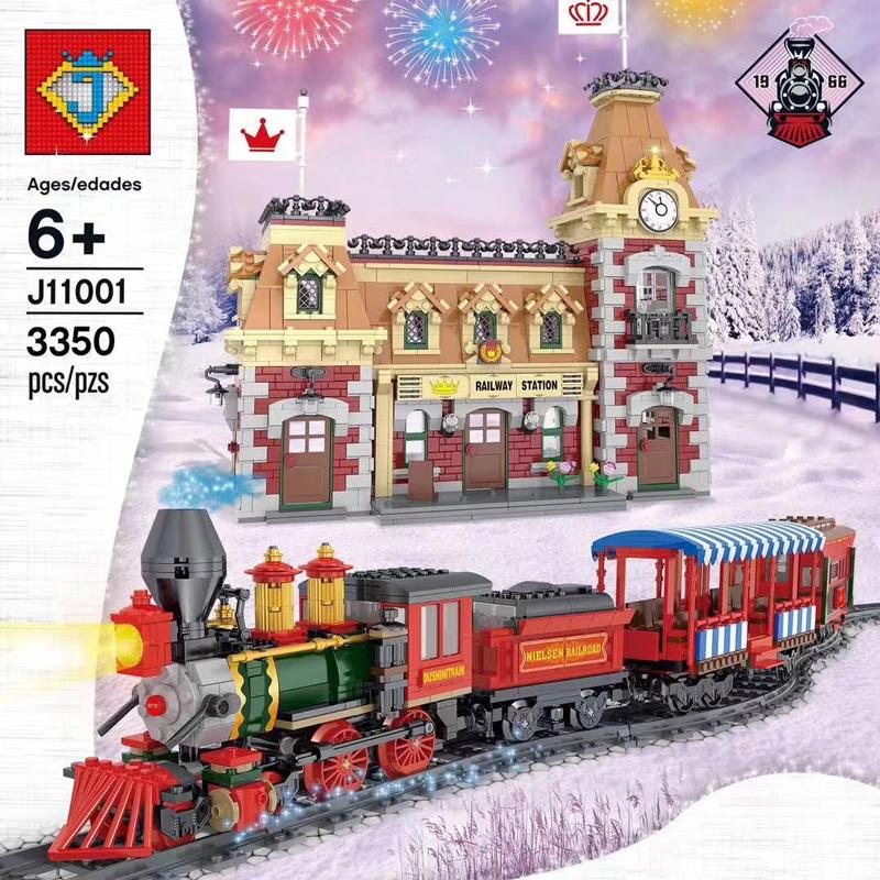 JACK J11001 Disney Train and Station Compatible MOC 71044